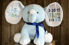 "Large 14"" elephant birth announcement!"