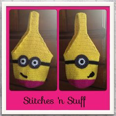 Crocheted Minion Bag by LoveHomemade80 on Etsy, $15.00