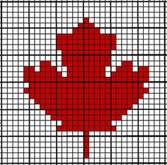 Ravelry: Crochet Chart ~ Maple Leaf pattern by Tara/Coffee Crochet Crochet Cross, Crochet Chart, Filet Crochet, Crochet Motif, Ravelry Crochet, Crochet Flower, Knitting Charts, Knitting Stitches, Knitting Patterns