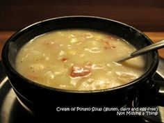 Not Missing a Thing! Allergy Friendly Cooking: Cream of Potato Soup {gluten, dairy and egg-free}