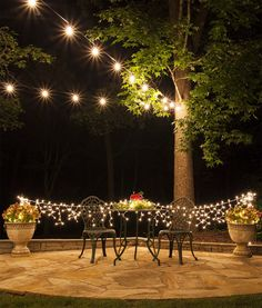 Outdoor String Lighting Ideas Best I Love This Look Of Lights Over The Deckshe Gives Directions On