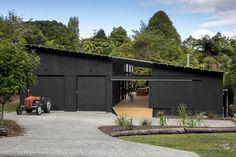 Lake Tarawera Cabin by Darryl Church Architecture Shed Design, Garage Design, House Design, Church Architecture, Modern Architecture, Steel Framing, Farm Shed, Shed Homes, Modern Barn