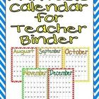 ***Updated for the 2014-2015 school year*** This FREE month-by-month calendar can easily be printed to add to your lesson plan binder!!   I hope yo...