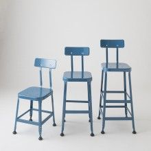 Backed Utility Stool - Schoolhouse Electric Welded Furniture, New Furniture, Furniture Ideas, Made Coffee Table, Island Chairs, Patterned Armchair, Dining Room Table Chairs, Used Chairs, Stool Chair