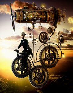 flying bikes Steampunk Tendencies