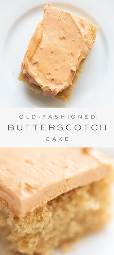 Incredible Butterscotch Cake This is a moist and decadent Easy Butterscotch Cake Recipe that your family will clamor over. Inspired by vintage recipes and covered in Butterscotch Frosting, it's baked in a jelly roll or and couldn't be easier! Köstliche Desserts, Delicious Desserts, Dessert Recipes, Easy Cake Recipes, Vanilla Cake Recipes, Sheet Cake Recipes, Cake Recipes From Scratch, Birthday Desserts, Birthday Recipes