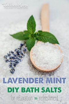 This lavender mint bath salts recipe is a great way to combine the benefits of magnesium and sea salts with essential oils for a relaxing bath!