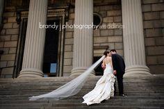 Outside of Stambaugh Auditorium shot by brandy j Photography. Youngstown, Ohio Stambaugh Auditorium Wedding