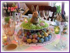 Easter Table by dining delight, via Flickr