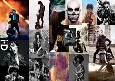 """Mood Board / Music Video Project For Rock Singer Neil Habib Georges. Song : Looser from """"Chevalier"""" EP. neilhabibgeorges.com"""