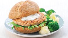 Provencal Salmon Burgers. Our salmon burgers (packed with omega-3s!) get a whole lot of pizzazz with herbes de Provence, capers, olives and Dijon, then cool down under their low-fat cucumber yogurt sauce. Oh, and the whole dish takes just 10 minutes!