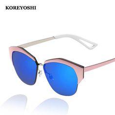f90e8c7b06 Find More Sunglasses Information about New Fashion Cat Eye Sunglasses Women  Brand Designer Summer Style Mirror Sunglasses Oculos De Sol Feminino  ks3003