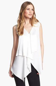 Lafayette 148 New York 'Lavina' Sleeveless Silk Top available at #Nordstrom