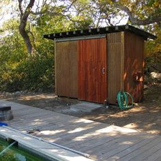 Modern Pool Shed Design Ideas Pictures Remodel and Decor shed