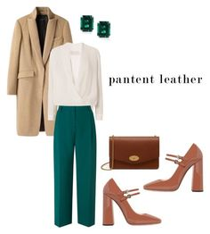 """""""Pantent leather"""" by mariafashionobsession ❤ liked on Polyvore featuring rag & bone, Michelle Mason, L.K.Bennett, Rochas, CARAT* London and Mulberry"""