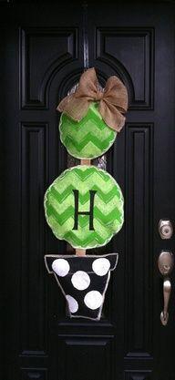 burlap door hanger for mom
