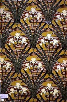Félix Aubert, textile design, 1897
