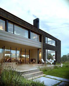 maison-bois-moderne-enduit-pierre-dessiner-sa-maison | Ce que j ...