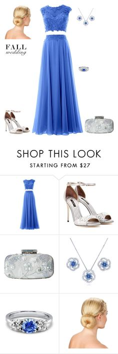 """""""outfit 4803"""" by natalyag ❤ liked on Polyvore featuring Dolce&Gabbana, Oscar de la Renta, BERRICLE and fallwedding"""