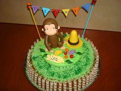 jorge el curioso -mono-adorno torta-porcelana fria-souvenirs Curious George Birthday, Ideas Para Fiestas, Fancy Cakes, Birthday Cake, Party, Desserts, Decorations, Google, Curious George Cakes