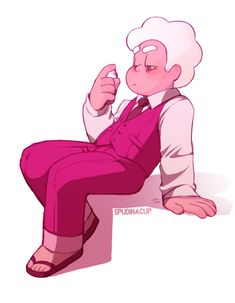 """spudinacup: """" DO NOT REPOST MY ART… Please Pink Diamonds Color palette and P!Steven in a suit? Who doesn't love a Lil formal wear with friggen sandals? Where is your fashion sense, young man? Steven Universe Drawing, Steven Universe Movie, Bad Boys, Greg Universe, Fan Art, Fanarts Anime, Comic Artist, Cartoon Network, Character Design"""