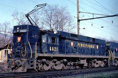 Del ferrocarril GG1 locomotora eléctrica.