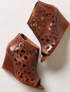 Anthropologie Relance Black Wedge Sandals size 37 #Anthropologie #PlatformsWedges