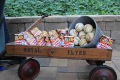 Vintage Baseball Wedding Cracker Jack Wagon