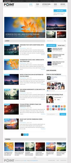 Wordpress themes for magazine / news websites.