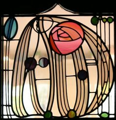 rose in stained glass.