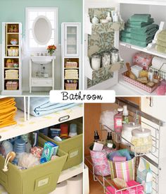 Etsy Greek Street Team: Clever ideas for organizing your kitchen and bathroom. Love the baskets