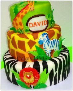 Safari/Jungle theme cake  Cake by cakesbg
