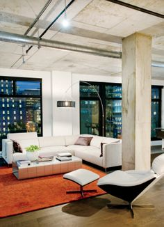 Style industriel dans un immense loft urbain | Décormag
