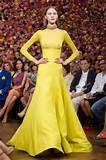 Valentino Haute Couture Spring 2010 HC Neon Yellow Chiffon ...   Co...