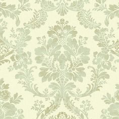 York Wallcoverings Normandy Manor x Damask Roll Wallpaper Color: cream, aqua, taupe Cute Dog Wallpaper, Go Wallpaper, Damask Wallpaper, Designer Wallpaper, Bedroom Wallpaper, Bamboo Trellis, Washable Wallpaper, Taupe, Discount Wallpaper