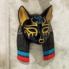 Masks of Ancient Egyptian Gods: Bastet Wall Sculpture