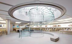 Architecture Photo Gallery: Update: Shanghai Apple Store / Bohlin Cywinski Jackson by Roy Zipstein - – ArchDaily Design Blogs, Küchen Design, Design Shop, Store Design, Apple Store, Escalier Design, Glass Stairs, Stairway To Heaven, Modern Glass
