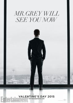 Here it is! The first Fifty Shades of Grey movie poster featuring Jamie Dornan!