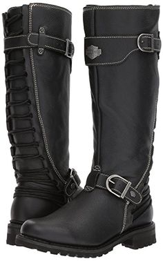 Harley-Davidson Women's Lenehan Motorcycle Boot, Black, 7 Medium US Harley Boots, Harley Gear, Classic Harley Davidson, Harley Davidson Boots, Rock Elegante, Cute Shoes, Me Too Shoes, Motorcycle Outfit, Motorcycle Boots Women