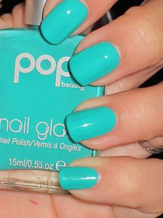 Turquoise... I should try this brand... because this color is excellent.