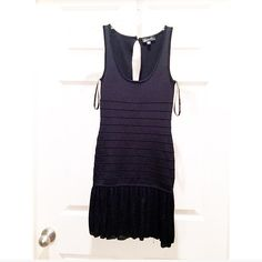 Bebe XS Black Cocktail Dress ♠️ ▪️Black Bebe Cocktail Dress ▪️Size XS ▪️Sheer Mesh Skirt ▪️Bandage Style  ▪️Sexy Little Black Dress ▪️Worn once bebe Dresses