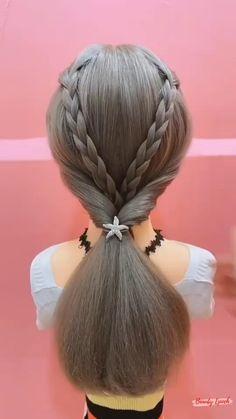 Hair Tutorials For Medium Hair, Medium Hair Styles, Hairstyle Tutorials, Curly Hair Styles, Hairdo For Long Hair, Easy Hairstyles For Long Hair, Little Girl Hairstyles, Hair Style Vedio, Hair Upstyles
