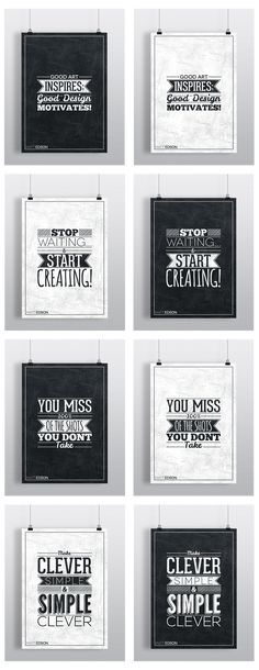 Typography Poster Set No.1