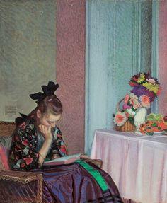 Silent Hours.Sigmund Walter Hampel (Austrian, 1868-1949).