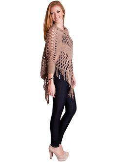 Open Knit Sweater Poncho #knit #poncho #fallfashion #springfashion