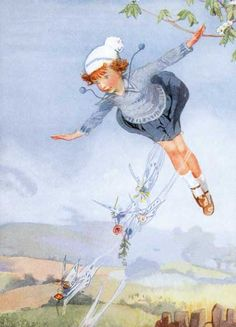 Honor C. Appleton-Illustrator. Flying With the Fairies | Children and Fairies Art Prints