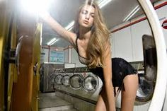 Talented photographer Jannis Tsipoulanis makes doing laundry absolutely sexy. I'm not sure what laundry mat has girls like this but I'd sure pay a premium to do my dirties there. Glamour Photography, Fashion Photography, Photography Ideas, Laundry Shoot, Sexy Talk, Babe, Domestic Goddess, Photoshoot Inspiration, Photoshoot Ideas