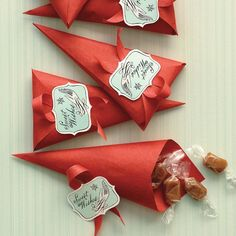 martha stewart tea tags | DIY Cones for Sweets and Other Small Treats