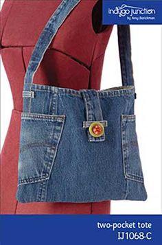 Two Pocket Tote Bag Pattern in PDF