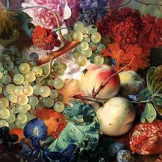 https://flic.kr/p/DEpn49 | Bonne Semaine ! :-) | A detail of Fruit Piece by Jan van Huysum. J. Paul Getty Art Museum L.A.